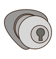 door handle security isolated icon vector image