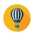 hot air balloon icon summer vacation vector image