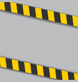 industrial danger lines on white background vector image