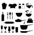 kitchen and cookery vector image