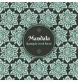 mandala pattern background decorative design vector image