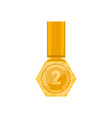 second place golden medal with ribbon vector image