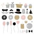Set of hand drawn party elements Doodle gift vector image