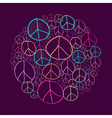 Sketch peace symbols circle shape compostion EPS10 vector image