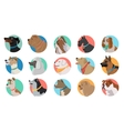 Set of Dog Round Icons vector image