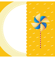 A stationery with a windmill vector image
