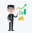 professional investor advise investment vector image