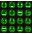 Bubbles smileys green vector image vector image