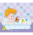 Boy bathing vector image