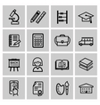 black higher education icons vector image vector image