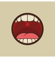Open Mouth with Teeth and Tongue vector image
