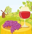 wine in glass vector image vector image