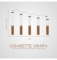 Cigarette graph flat life and age concept vector image