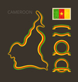 Colors of Cameroon vector image