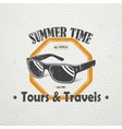 Summer time Tourist agency Travel around the vector image