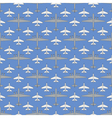 seamless pattern with military airplanes 03 vector image