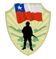 Army of Chile vector image