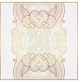 elegant floral ornamental background golden decor vector image vector image