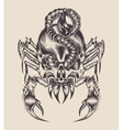 a monster scorpion vector image
