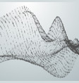 abstract virtual digital wave of binary code vector image