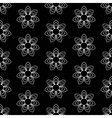 Black floral pattern vector image