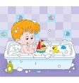 Boy bathing vector image