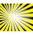 comic book explosion yellow rays on black vector image