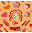 Meat Background Seamless Pattern with Meat vector image