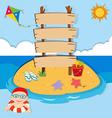 Ocean scene with boy swimming vector image