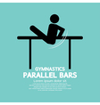 Parallel Bars Gymnastics vector image