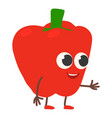 red pepper icon cartoon style vector image