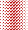 Red vertical heart pattern background design vector image