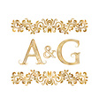 AG vintage initials logo symbol Letters A G vector image