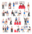 Business Training Set vector image