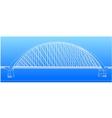 Silhouette of golden gate bridge vector image vector image