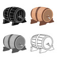beer barrel icon in cartoon style isolated on vector image