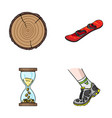 wood industry finance and other web icon in vector image