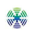 circle network signal logo vector image