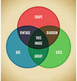 Infographics with intersecting circles vector image