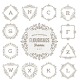 Set of flourishes calligraphic ornament frames vector image vector image
