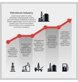 Oil price Increasing price of oil vector image vector image