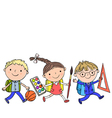 school kids 1 3 vector image