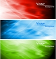 colourful wavy backgrounds vector image