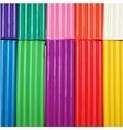 Colorful plasticine background vector image