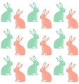 Easter Seamless pattern with cute rabbits vector image