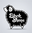 Fat Black sheep vector image