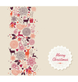 Merry Christmas elements seamless pattern vector image