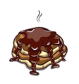 Pancakes With Chocolate On White vector image
