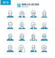people and their avatars images of profession vector image