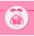 Princess Background with Castle vector image